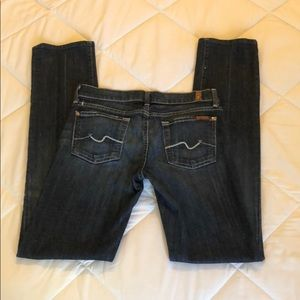 7 For All Mankind Women's Straight Leg Jeans Sz 26